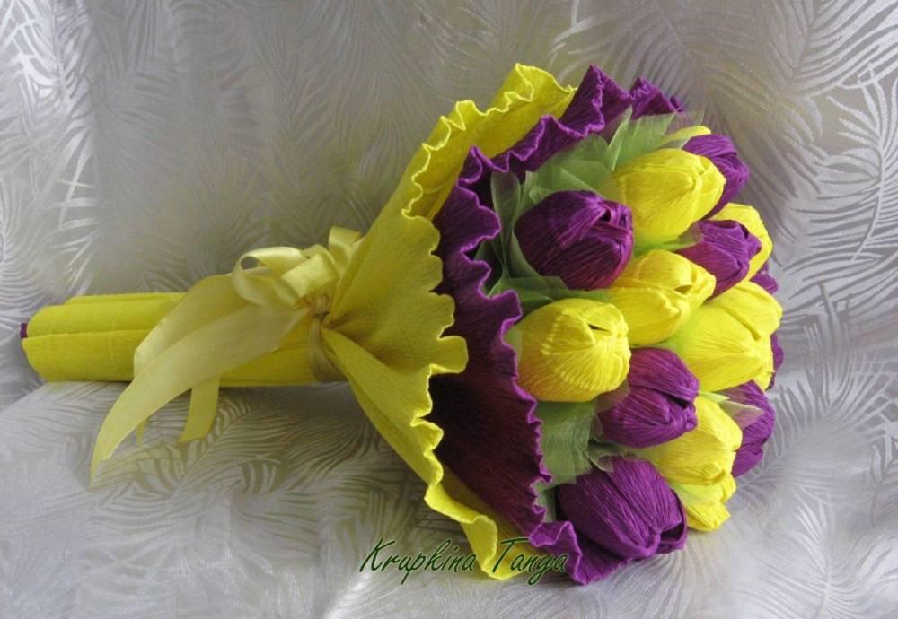 Конфеты и цветы из бумаги своими руками