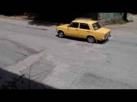 Требующий ремонта участок дороги по ул. Виноградная - «Измени Алушту»