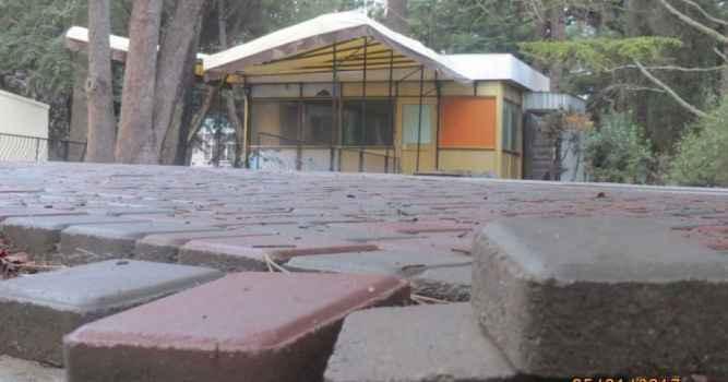 Качество укладки тротуарной плитки в районе троллейбусного кольца