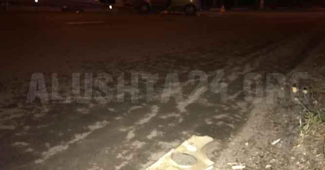 Авария на кольце автовокзала в Алуште 9 июня 2017