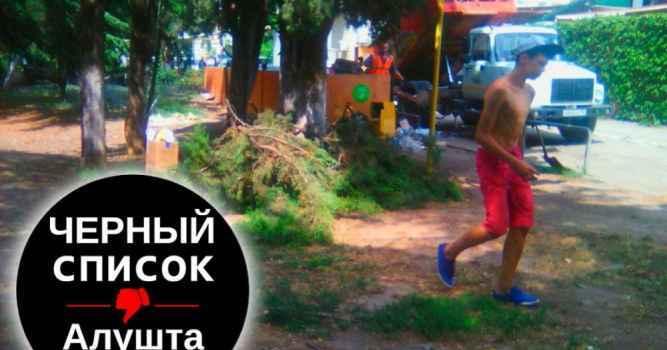 На набережной возле фонтана произведена незаконная вырубка деревьев