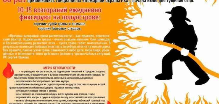 Крымские спасатели рассказывали крымчанам об опасности сжигания сухой травы