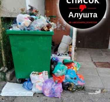 На улице Снежковой неделями не вывозят мусор