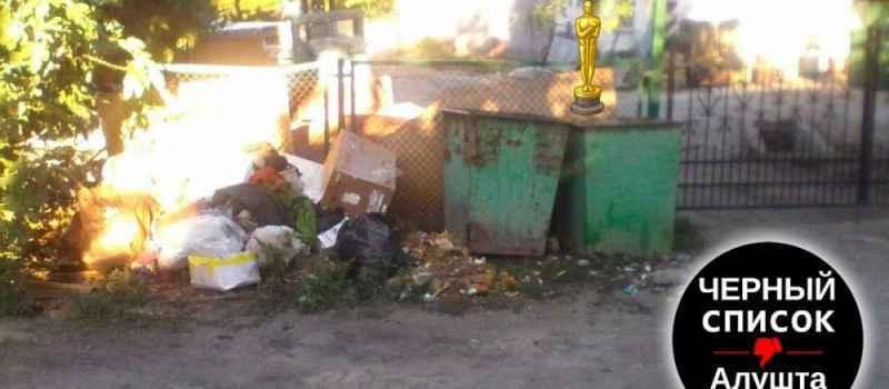 Возле мусорных баков мусор не вывозят