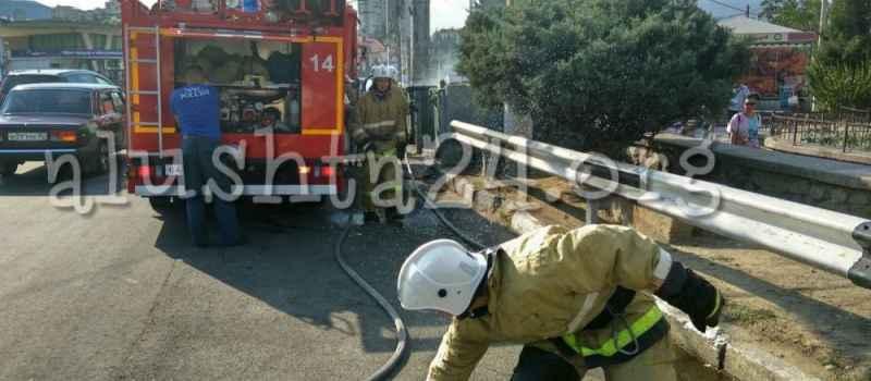 Пожар на контейнерной площадке автовокзала Алушты