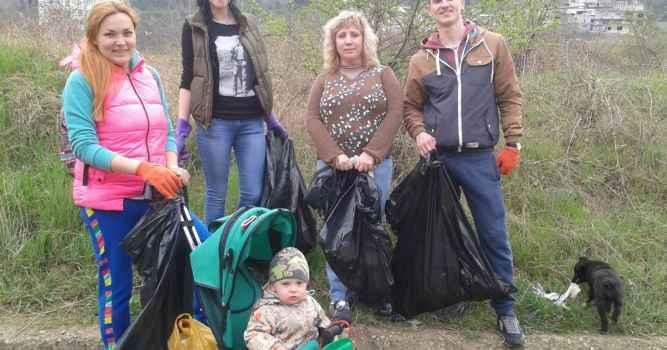 Фотоотчёт о проделанной работе по сбору мусора на Ялтинской