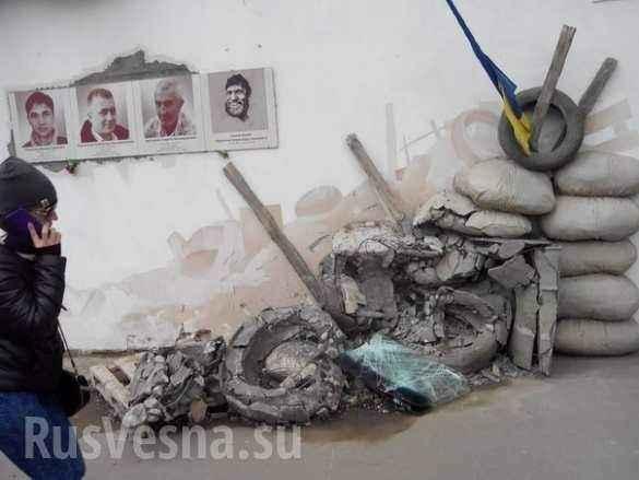 Пьяный водитель «Жигулей» уничтожил стелу «героев небесной сотни» в Ровно