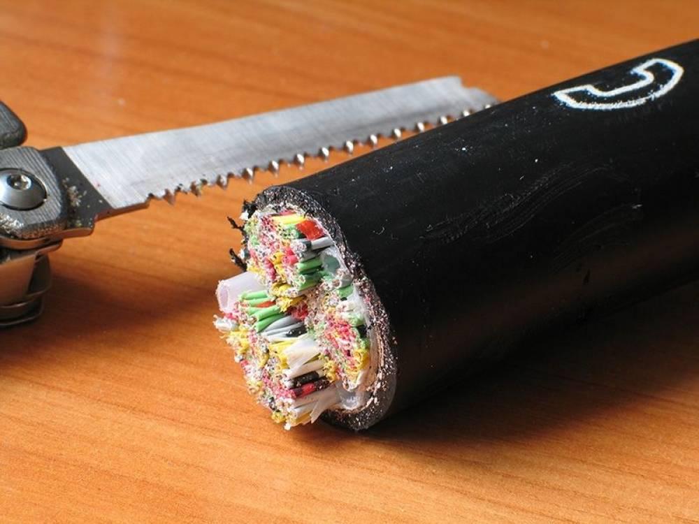 Не работает проводной телефон/интернет - вырезали кабель