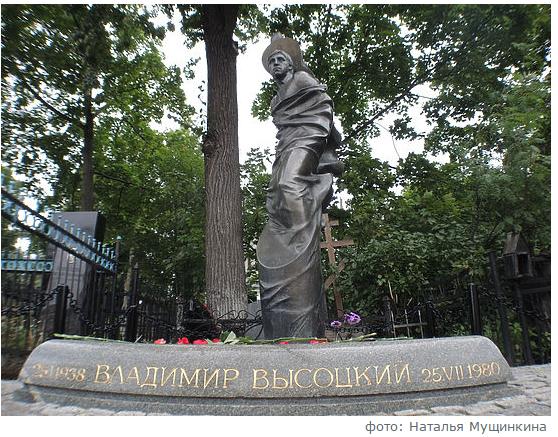 Накануне дня памяти Высоцкого на Ваганьково приходят его поклонники
