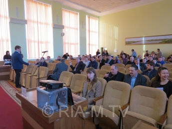 Наши соседи из Мелитополя. Сессия городского совета онлайн