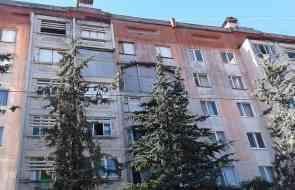 После взрыва  прошло 14 лет, но  дом в 9 этажей  по ул.Юбилейная  без  наружной стены