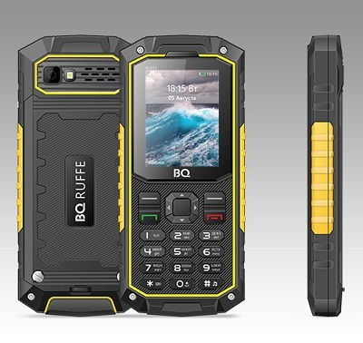 Телефон BQ RUFFE 2205 black-yellow