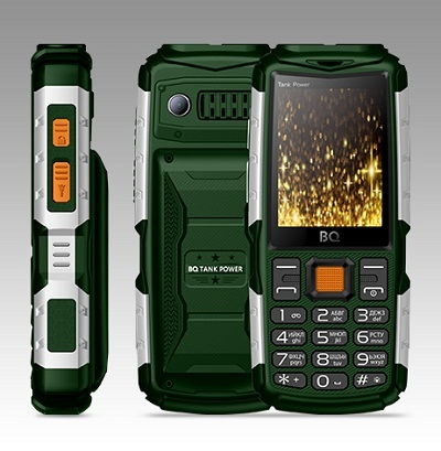 Телефон BQ TANK POWER 2430 green/silver