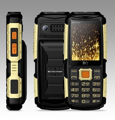 Телефон BQ TANK POWER 2430 black/gold
