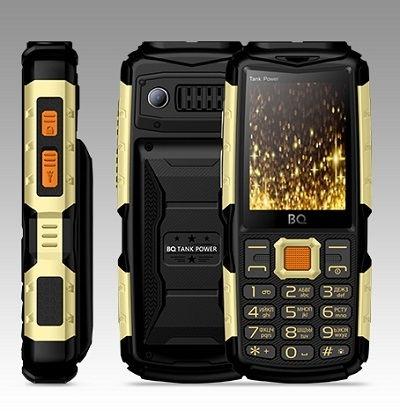 Телефон BQ TANK POWER 2430 black/gold