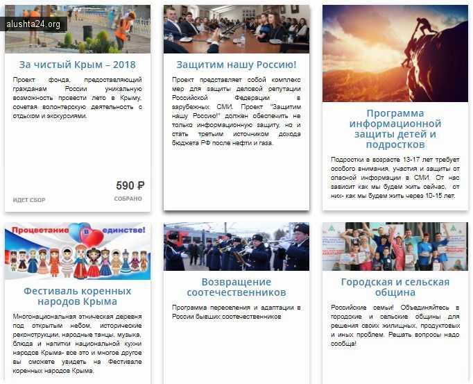 Проекты Благотворительный фонд «Наследие Крыма»