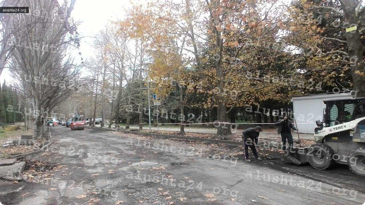 Все об Алуште: На Перекопской проходит ремонт дорожного полотна