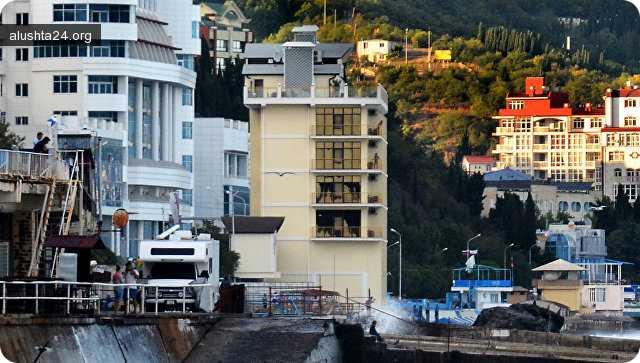 Все об Алуште: Власти Крыма подняли аренду для отеля Калипсо в Алуште в тысячу раз