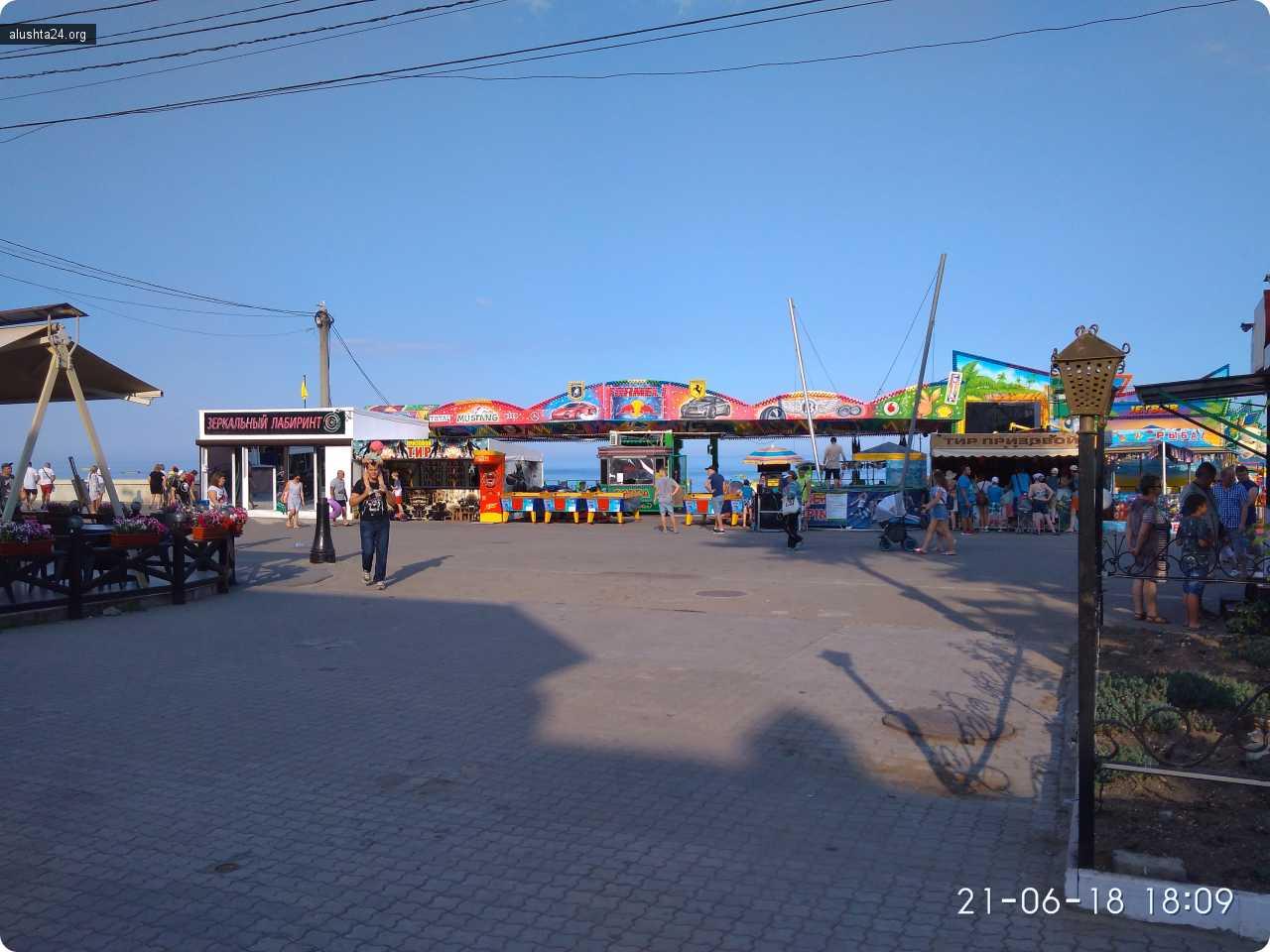 Новости: В Алуште продолжают уничтожение центральной набережной